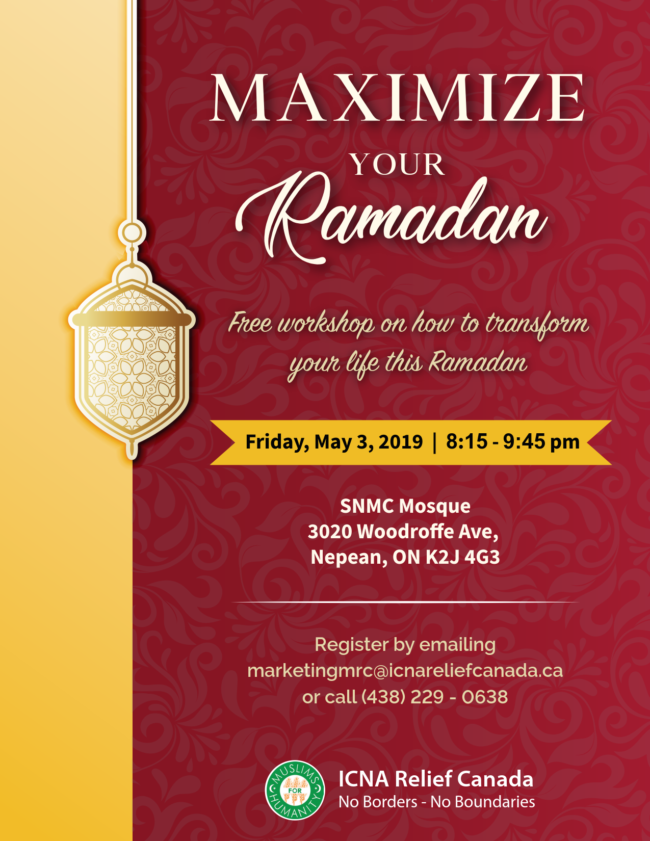 Ramadan Workshop 1 ICNA 2019-SNMC